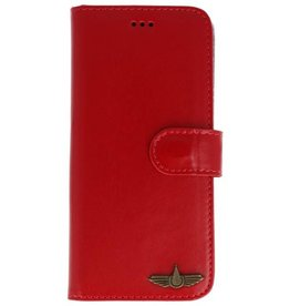 Galata Bookcase Huawei P20 Lite echt leer rood