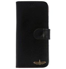 Galata Bookcase Huawei P20 Lite echt leer zwart