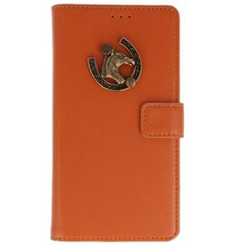 MP Case Bruin Huawei Honor 10 bookcase paard brons