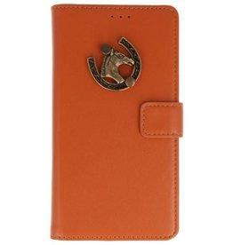 MP Case Bruin Motorola Moto G6 bookcase paard brons