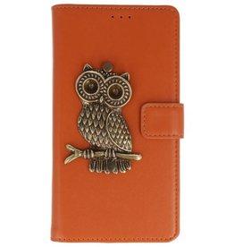 MP Case Bruin Motorola Moto G6 bookcase uil brons