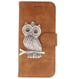 MP Case Bruin Samsung Galaxy S9+ Plus bookcase uil zilver