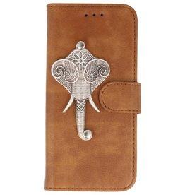MP Case Bruin Samsung Galaxy S9+ Plus bookcase olifant zilver