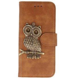 MP Case Bruin iPhone 7/8 Plus bookcase uil brons