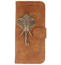 MP Case Bruin iPhone 7/8 Plus bookcase olifant brons