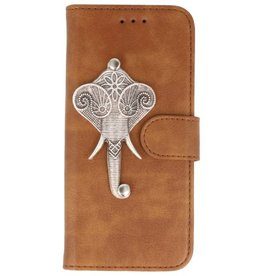 MP Case Bruin iPhone 7/8 Plus bookcase olifant zilver