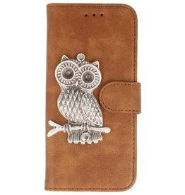 MP Case Bruin iPhone 7/8 Plus bookcase uil zilver