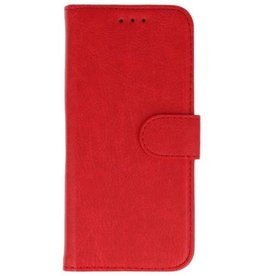 Merkloos Samsung Galaxy A6 2018 Basis TPU bookcase rood