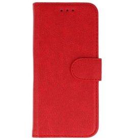 Merkloos Samsung Galaxy A6+ Plus 2018 Basis TPU bookcase rood