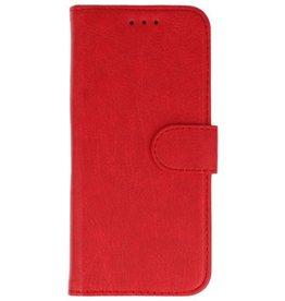Merkloos Samsung Galaxy J8 Basis TPU bookcase rood