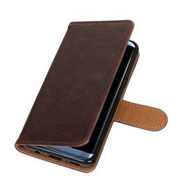 Merkloos Samsung Galaxy J4 Basis TPU bookcase mocca