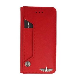 Galata Luxe pasjes Samsung Galaxy A8 2018 booktype rood