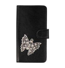 MP Case Samsung Galaxy A6+(Plus) 2018 bookcase vlinder zilver