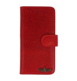 Galata Book case iPhone 5 / 5S / SE echt leer rood