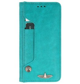 Galata Luxe pasjes Samsung Galaxy A8 2018 booktype turquoise