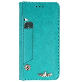 Galata Luxe pasjes Samsung Galaxy J3 2017 booktype turquoise