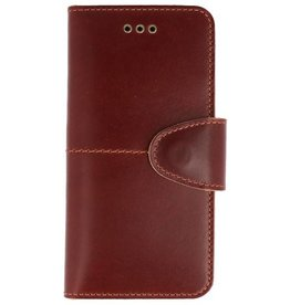 Galata Genuine leather iPhone 6/6s wallet case Rustic Cognac