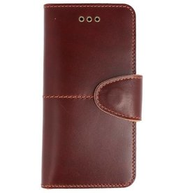 Galata Genuine leather iPhone 7 / 8 wallet case Rustic Cognac