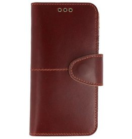 Galata Genuine leather iPhone Xs / X wallet case Rustic Cognac