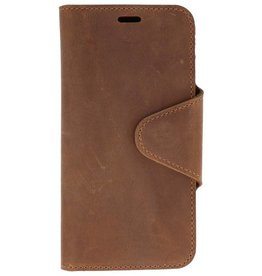 Galata Genuine leather iPhone Xs / X wallet case crazy bruin
