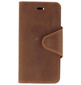 Galata Genuine leather iPhone 7 / 8 wallet case crazy bruin