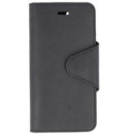 Galata Genuine leather iPhone 7 / 8 wallet case crazy zwart