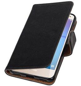 Merkloos Vintage Samsung Galaxy Note 9 bookcase zwart