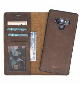 Galata Echt leer 2in1 Samsung Galaxy Note 9 bookcase Antiek bruin
