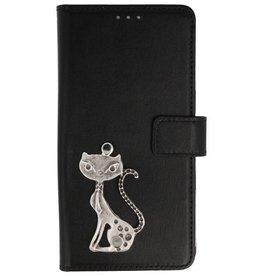 MP Case Huawei P Smart+Plus (Nova 3i) bookcase poesje zilver