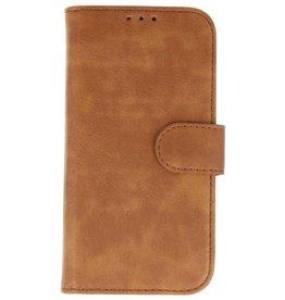 Merkloos Vintage Samsung Galaxy J4 bookcase bruin