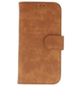 Merkloos Samsung Galaxy A6 2018 Basis TPU bookcase bruin