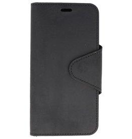 Galata Genuine leather iPhone Xs Max wallet case crazy zwart