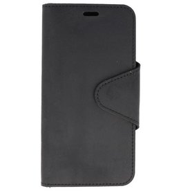 Galata Genuine leather iPhone Xr wallet case crazy zwart