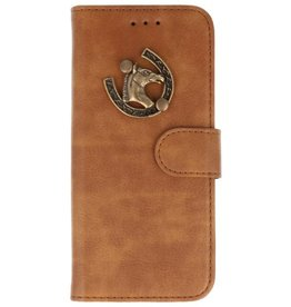 MP Case Bruin Huawei Mate 20 Lite bookcase paard brons