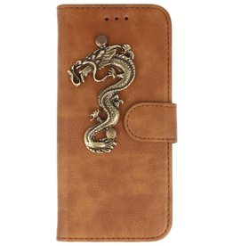 MP Case Bruin Huawei Mate 20 Lite bookcase draak groot brons