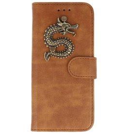MP Case Bruin Huawei Mate 20 Lite bookcase draak brons