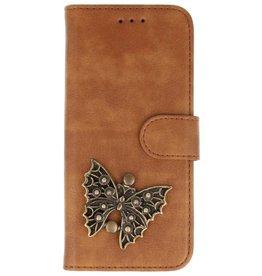 MP Case Bruin Huawei Mate 20 Lite bookcase vlinder brons