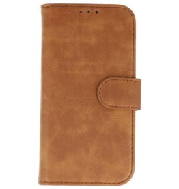 Lelycase Vintage Samsung Galaxy A6+Plus bookcase bruin