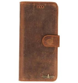 Galata Bookcase iPhone Xr echt leer vintage roestbruin