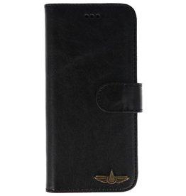 Galata Book case Samsung Galaxy A6 2018 echt leer zwart