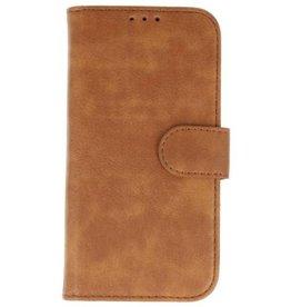 Lelycase Vintage Samsung Galaxy A7 2018 bookcase bruin