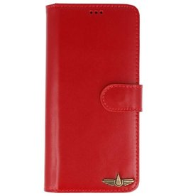 Galata Wallet case Samsung Galaxy Note 9 cover echt leer rood