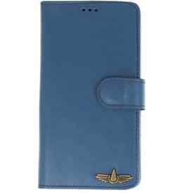 Galata Wallet case Samsung Galaxy Note 9 cover echt leer blauw