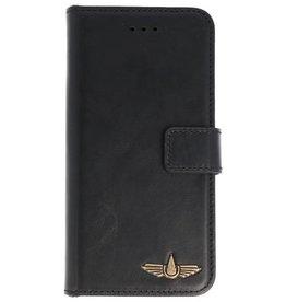 Galata Clear tpu case iPhone 5/5s/SE Echt Leer Zwart