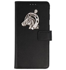 MP Case iPhone Xr bookcase paard zilver