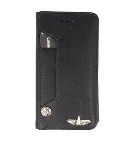 Galata Luxe pasjes iPhone Xr 2-in-1 afneembare bookcase zwart