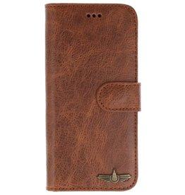 Galata Book case Samsung Galaxy A7 2018 echt leer cognac bruin