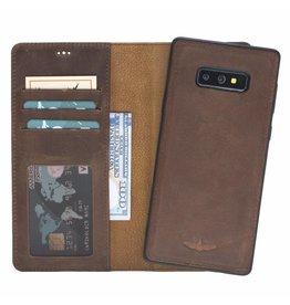 Galata Echt leer 2in1 Samsung Galaxy S10e bookcase antiek bruin