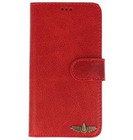 Galata Book case Samsung Galaxy S10 echt leer vintage rood