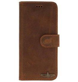 Galata Book case Samsung Galaxy Note 9 echt leer vintage roestbruin